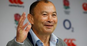 "Eddie Jones: ""We have focused particularly on youth because we want to find players who are going to be better than the 16 players going on the Lions tour.""  Photograph: Paul Childs Livepic/Reuters"