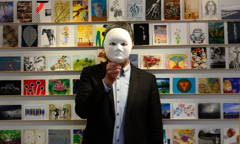 CHARITY SALE: A section of the 'Incognito' collection of miniature artworks on sale at Dublin's Solomon gallery in aid of the Jack & Jill Children's Foundation. Photograph: Cyril Byrne/The Irish Times