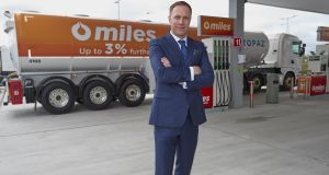Gordon Lawlor, Topaz fuels director, with the new Miles fuel brand.