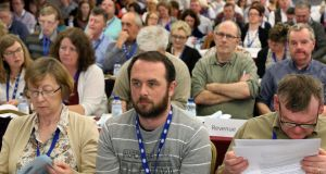 Delegates during the PSEU annual conference at the Clayton Hotel, Galway. Photograph: Joe O'Shaughnessy