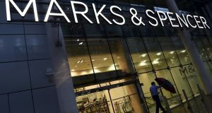 London: Marks & Spencer shares slumped 4.7p to 353.7p on the Footsie amid news the retail giant is planning to close six stores following a review of its store estate. Photograph: Toby Melville/Reuters