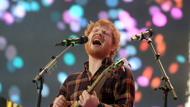 Ed Sheeran performing at Croke Park in July 2015, when he played to more than 80,000 people. Photograph: Cyril Byrne