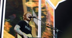 Ed Sheeran: Croke Park bound? Here he is during his recent concert at Dublin's 3 Arena Dublin. Photograph: Aidan Crawley
