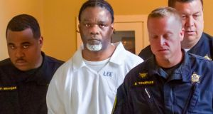 Ledell Lee appears in Pulaski County Circuit Court. Lee was sentenced to death after being convicted of killing Debra Reese with a tire iron in February 1993. Photograph: AP