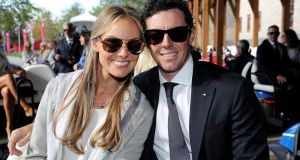 Erica Stoll and Rory McIlroy. Photograph: David Cannon/Getty