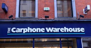 "The Carphone Warehouse: ""We apologise for the inconvenience . . . due to a misunderstanding by our customer service team."" Photograph: Dara Mac Dónaill"