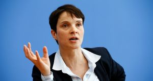 Frauke Petry, chairwoman of the anti-immigration party Alternative for Germany (AfD), photographed in   March  2016. File photograph: Wolfgang Rattay/Reuters