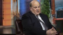 Minister for Finance, Michael Noonan, speaks during a TV interview in the US this week. Photograph: Bloomberg