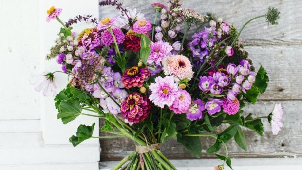 Hand tied blooms, from Floret Farm's Cut Flower Garden: Grow, Harvest, and Arrange Stunning Seasonal Blooms, by Erin Benzakein and Julie Chai (Chronicle Books, £19.99). Photograph: Michèle M. Waite
