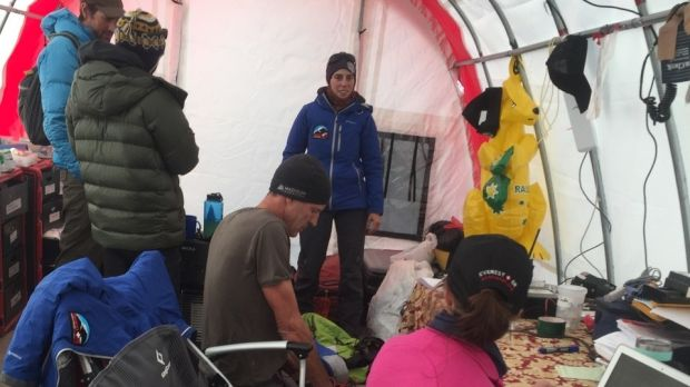 The Everest Emergency Room medical staff at work in their tent.