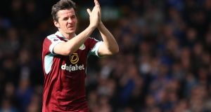 Burnley midfielder Joey Barton is appearing before a Football Association commission on Friday in relation to betting charges. Photo: Martin Rickett/PA Wire
