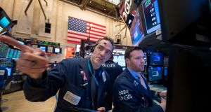The Dow Jones Industrial Average was down 23.31 points, or 0.11 per cent, in early trade on Friday. Photograph:  Bryan R Smith/AFP/Getty Images