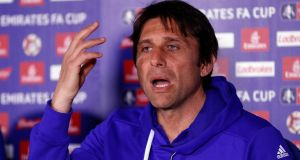 "Antonio Conte: ""Tottenham must be considered at the top, because they are now a really great power in English football."" Photograph:  John Sibley/Livepic"