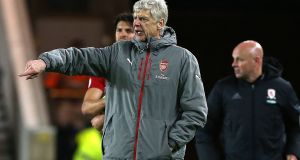 Arsenal manager Arsène Wenger has won seven and lost three of his previous FA Cup semi-finals. Photograph: Nigel Roddis/EPA