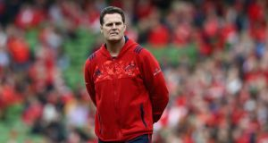 Rassie Erasmus will not be leaving Munster in the summer. Photograph: David Rogers/Getty