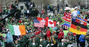 O'Connell Street during this year's St Patrick's Day parade in Dublin. Photograph: Cyril Byrne