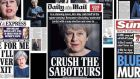 """Britain faces another general election for all sorts of reasons. The 'Daily Mail' captured it with a remarkably Leninist headline: 'Crush the saboteurs'."""
