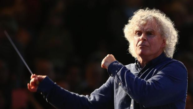 Simon Rattle: conducted the London Symphony Orchestra at the National Concert Hall in Dublin. Photograph: Dan Kitwood/Getty