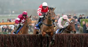 The 2015 Cheltenham Gold Cup hero Coneygree is set to arrive in Punchestown on Monday ahead of his eagerly awaited clash with the reigning 'blue riband' holder, Sizing John, in Wednesday's Coral Gold Cup. Photograph: Dan Sheridan/Inpho