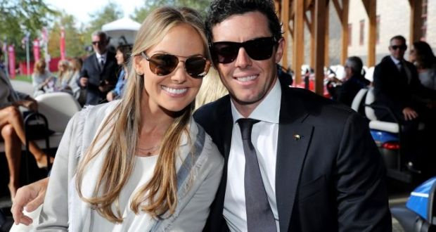 ca57a69c83 Erica Stoll and Rory McIlroy attend the 2016 Ryder Cup Opening Ceremony at  Hazeltine National Golf