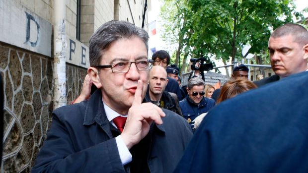 Far-left presidential candidate Jean-Luc Mélenchon performed a late surge in recent weeks and won 19.5 per cent of the vote. Photograph: Francois Mori/AP Photo