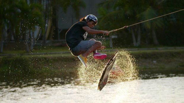 Wakeboarding at Taco Lake, just outside Bangkok. Photograph: tacolake.com