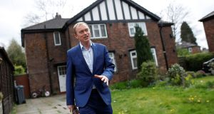 "Liberal Democrat leader Tim Farron delivering leaflets in Manchester: ""We will use every seat we get and every vote we get in the election to strengthen our hand to make sure we push against a hard Brexit."" Photograph: Darren Staples/Reuters"