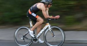 Triathlon athlete Trevor Woods