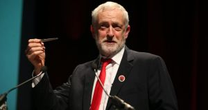 Labour leader Jeremy Corbyn told the Scottish Trade Union Conference how a Labour government would strengthen workers' rights. Photograph: Jane Barlow/PA Wire