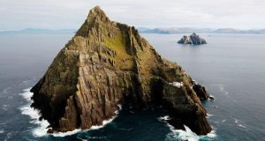 The OPW said a safety access team has surveyed slopes affected by the second major rockfall in two years on Skellig Michael. Photograph: Brian Lawless/PA Wire