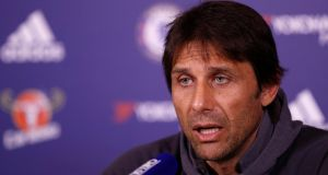 "Chelsea manager Antonio Conte during  a press conference on Monday.  ""We want it to become a great season, a fantastic season."" Photograph:  Reuters/John Sibley"