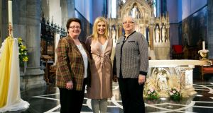 Caroline McDonagh, Sharon Collopy and Trish Kennedy after saying the lay-led Liturgy of the Word at St John's Cathedral Limerick. Photograph: Brian Gavin/Press 22