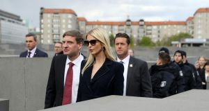 BEARING WITNESS: Ivanka Trump at the Memorial to the Murdered Jews of Europe in Berlin. Photograph: Getty Images