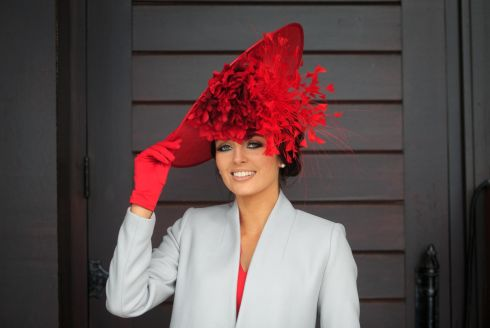 Winner of  Tuesday's Bollinger Best Dressed Lady Ashley Reade from Naas. Photograph: Gareth Chaney Collins