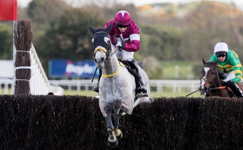 Bryan Cooper jumping the final fence on his way to winning with Disko. Photograph: Inpho
