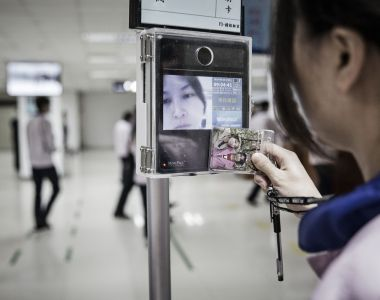 Some employees and passengers at certain  international airports accept their faces being photographed for security. Photograph: Qilai Shen/Bloomberg