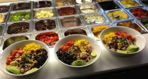 Canadian fast-food franchise Freshii: sells soups, salads, wraps, frozen yoghurts and other on-the-go food.
