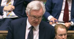 "UK Brexit minister David Davis: ""We want the negotiations to be swift and effective."""