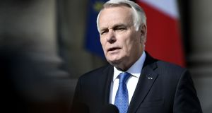 "French foreign minister Jean-Marc Ayrault: ""This method [of production] bears the signature of the regime and that is what allows us to establish its responsibility in this attack."" Photograph:  Stephane De Sakutin/AFP/Getty Images"