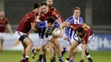 Ballyboden's Colm Basquel in action against Oliver Plunkett's Eoghan Ruadh in the Dublin SFC at Parnell Park. Their defeat  ensures Ballyboden's championship season is over before May. Photograph: Tommy Dickson/Inpho