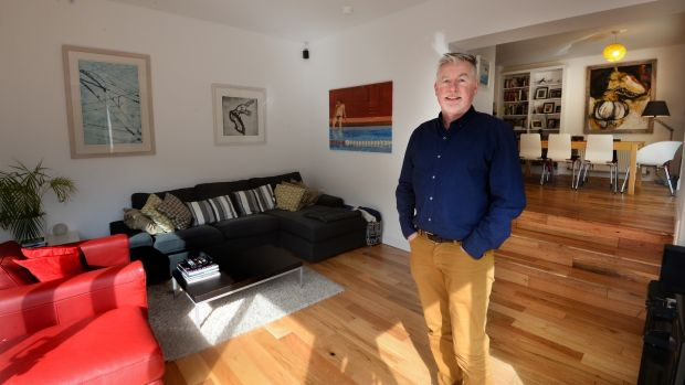 "Bernard Gilna in his home in Harold's Cross. His biggest regret? ""The builders were so quick that I was designing on the fly. So this is not something I would do again."" Photograph: Cyril Byrne"