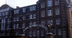 The Royal Victoria Hospital in Belfast. Since the late 1990s there have been five official reports  in the North that have advised cutting the number of acute hospitals from 15 to four