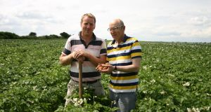 Edward and Ned English of Castlecor Potatoes: almost 100 per cent of company's output now goes to Lidl