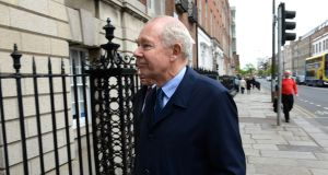 Deputy Chairman Nicholas Kearns, arriving at the National Maternity Hospital board meeting in Dublin. Photograph: Dara Mac Dónaill