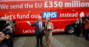 Boris Johnson has insisted he stands by his claim that the UK sends £350 million a week to the European Union that could otherwise be spent on the NHS. Photograph: Reuters.