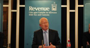 "Niall Cody of the Revenue Commissioners: the business tax base is ""concentrated and volatile"".  Photograph: Aidan Crawley"