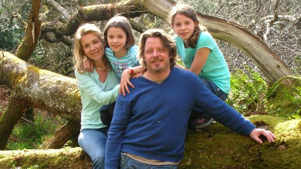 Charley Boorman with his wife, Olivia, and children Kinvara and Doone.