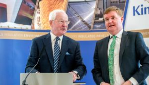 Kingspan chairman Eugene Murtagh and chief financial officer Geoff Doherty: Mr Murtagh's total pay package increased by 9 per cent last year to €1.915 million. Photograph: Brenda Fitzsimons