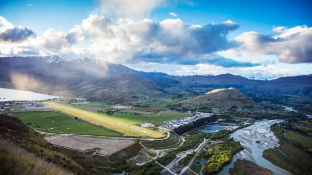 Secluded between mountain ranges, New Zealand's Queenstown Airport has the world's fifth most scenic airstrip. Photograph: Vaughan Brookfield