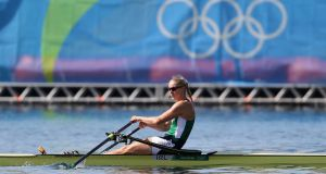 Sanita Puspure  competing for Ireland  in the Women's Single Sculls at the Olympic Games in Rio. Photograph:  by Christian Petersen/Getty Images